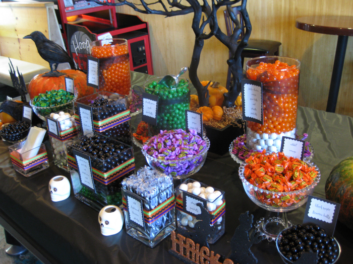 sink your vampire teeth into this halloween candy buffet two 39 s a party. Black Bedroom Furniture Sets. Home Design Ideas